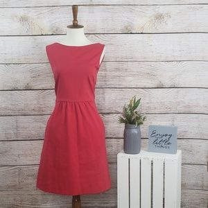 Theory Sleeveless Cut Out Red Dress 6